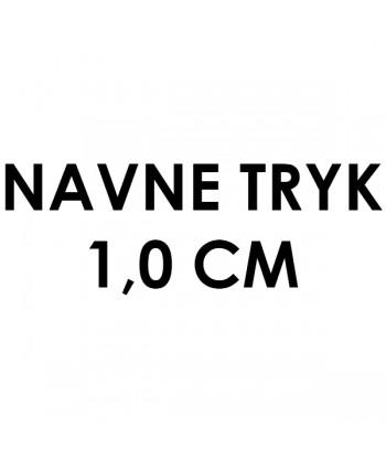 Navnetryk på 1,0 cm
