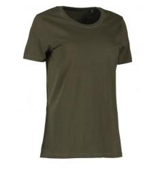 ID økologisk D-hals t-shirt Dame